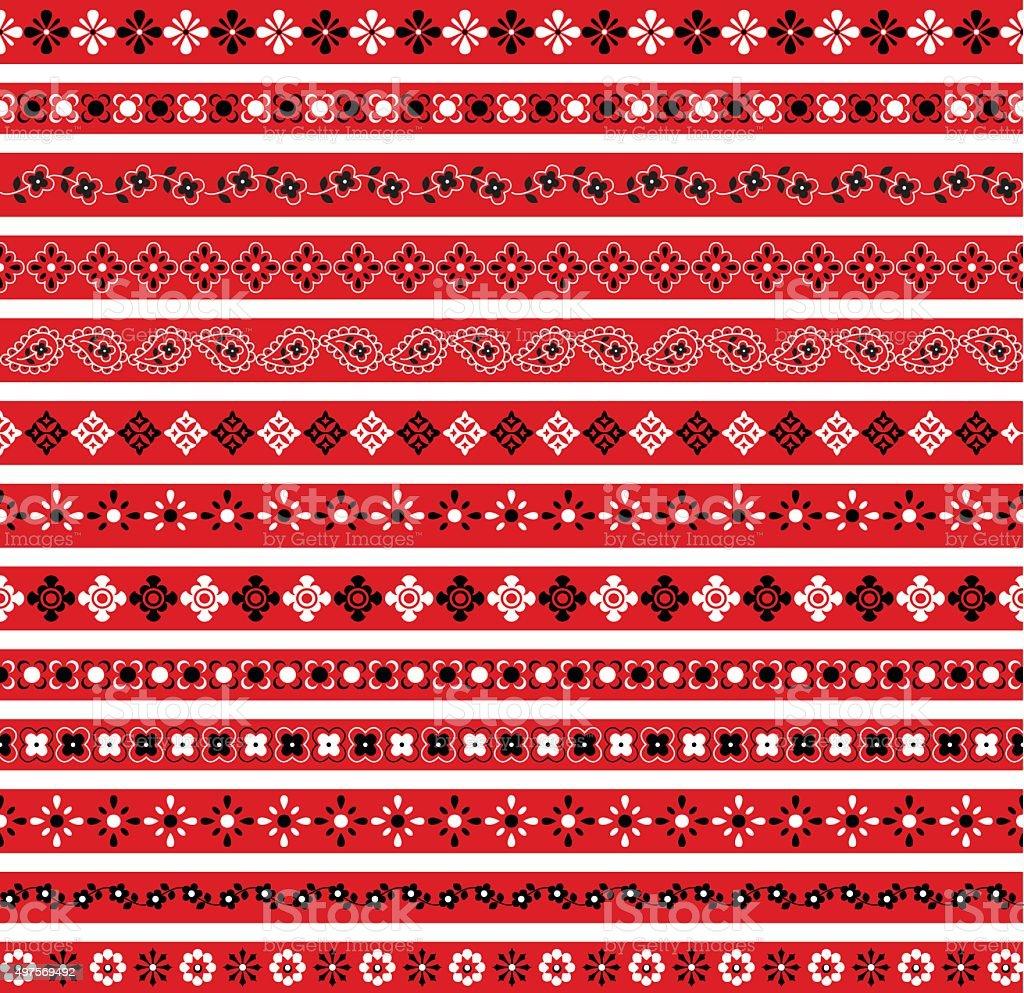 bandana borders vector art illustration