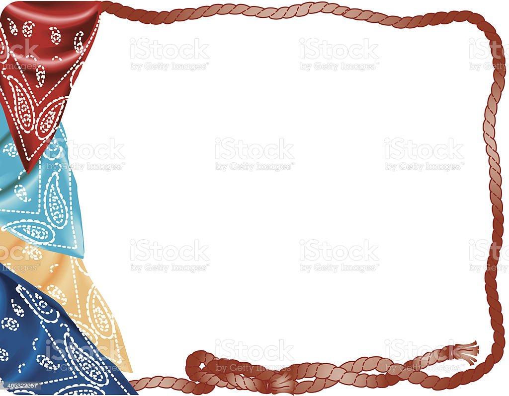 Bandanna Rope Frame C vector art illustration