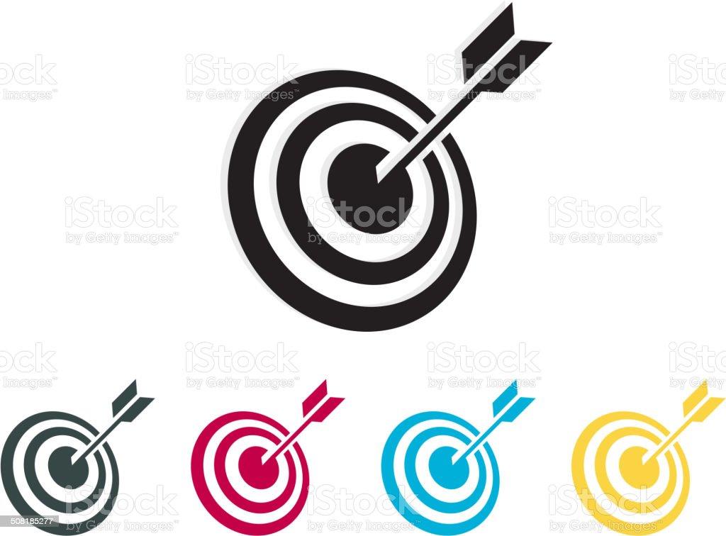 Bang on Target  Icon vector art illustration