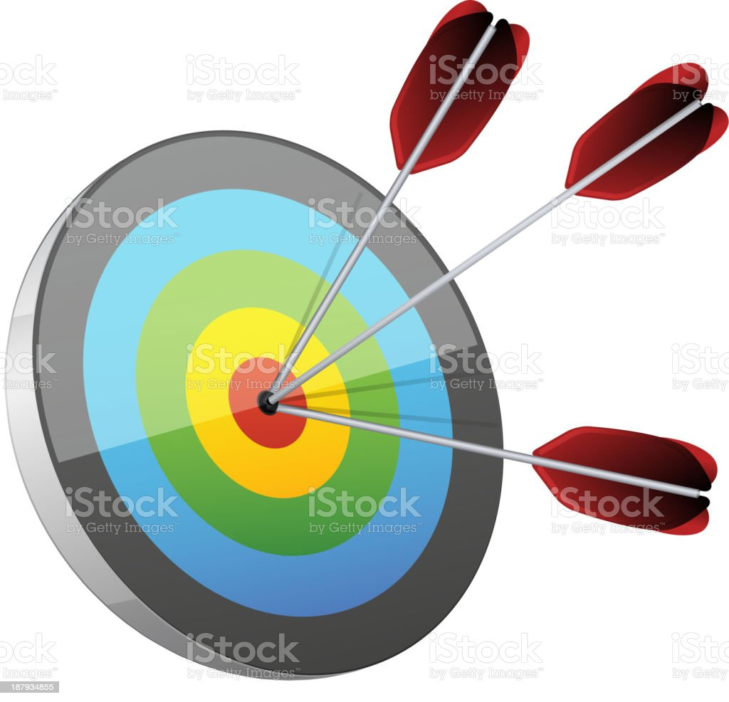 Bang on Target vector art illustration