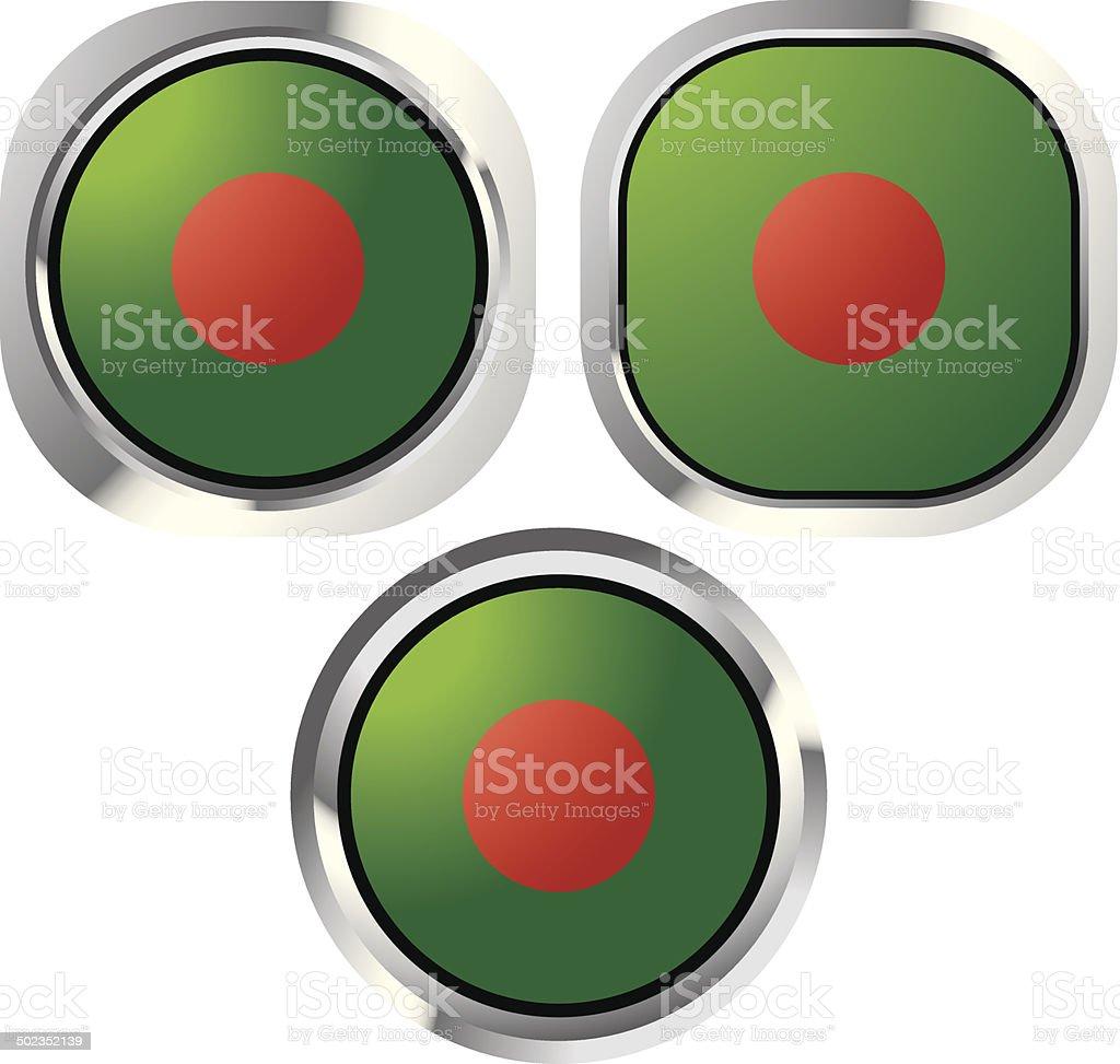 Bangladesh flag button royalty-free stock vector art