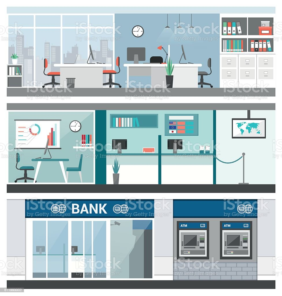 Bank and finance vector art illustration