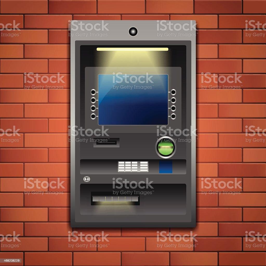 Bank ATM vector art illustration