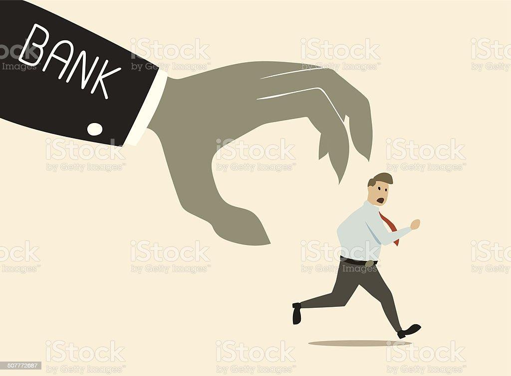 bank attack vector art illustration