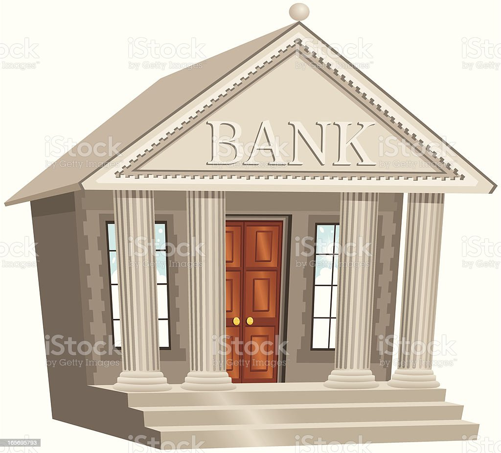 Bank building royalty-free stock vector art