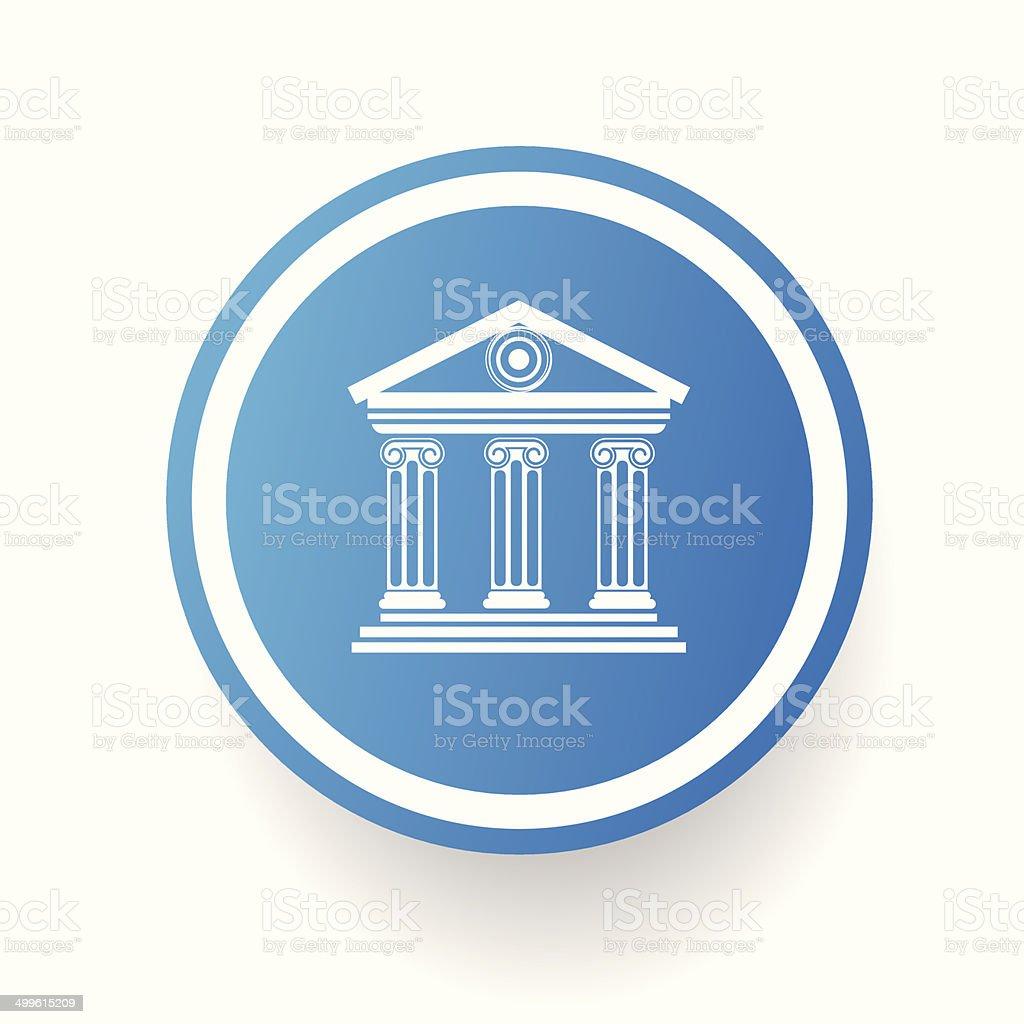Bank button,vector vector art illustration