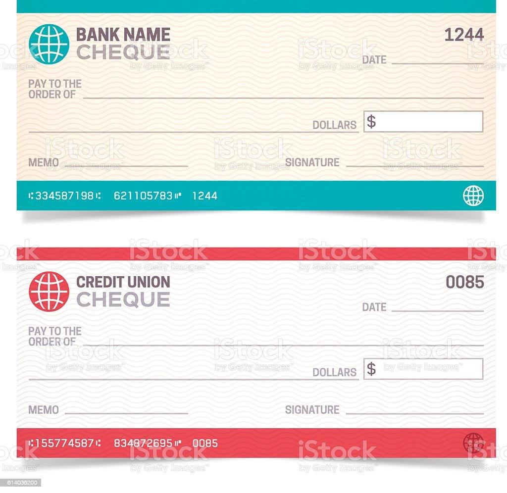 Bank Checks vector art illustration