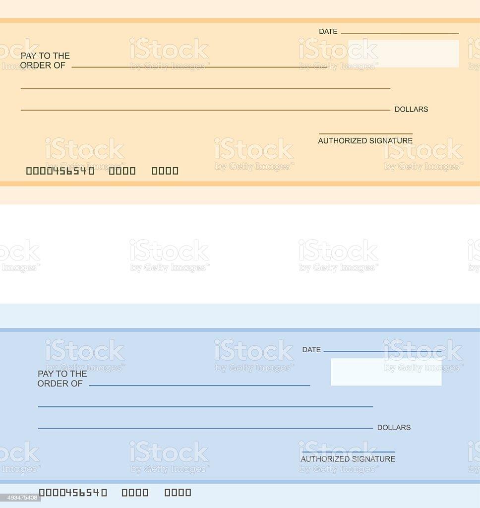 Bank cheque vector art illustration