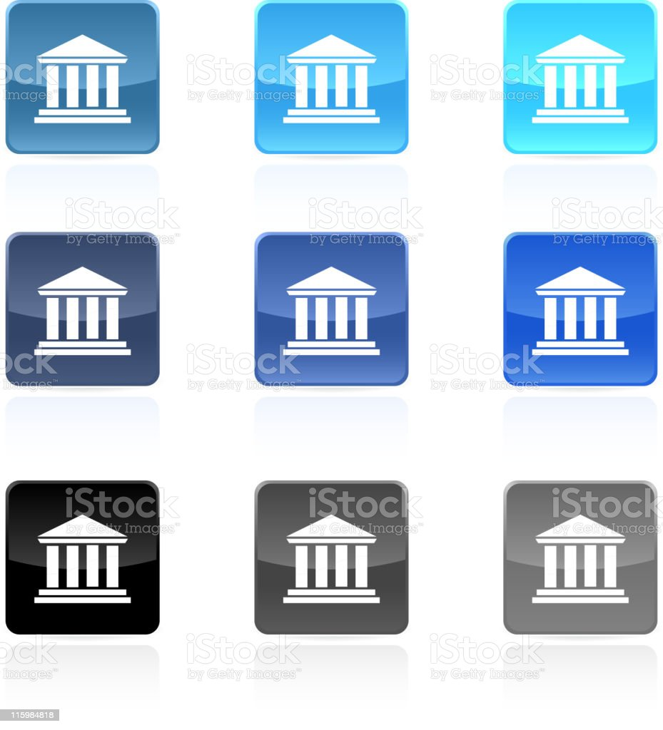 bank court house royalty free vector art royalty-free stock vector art
