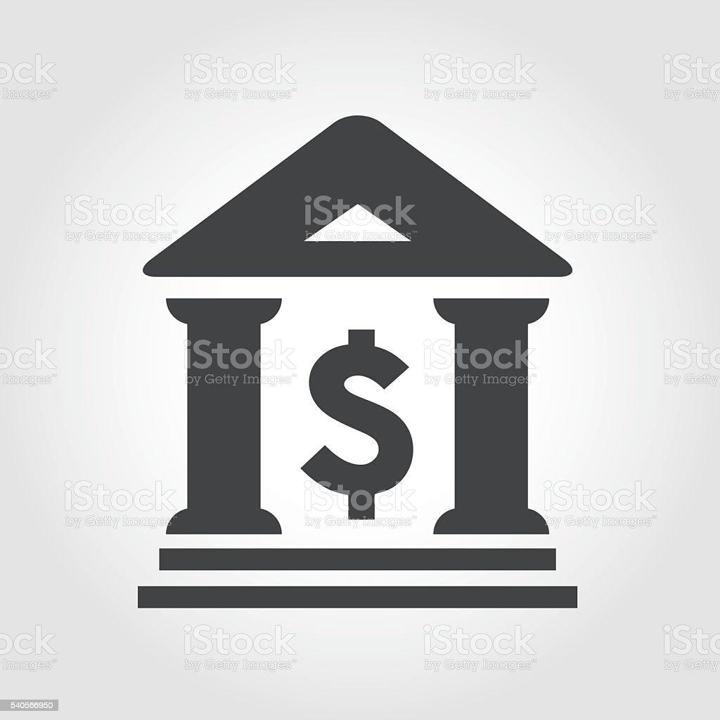 Bank Icon - Iconic Series vector art illustration