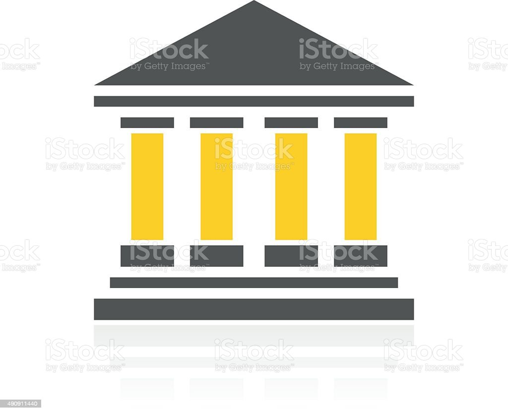Bank icon on a white background. - ColorSeries vector art illustration
