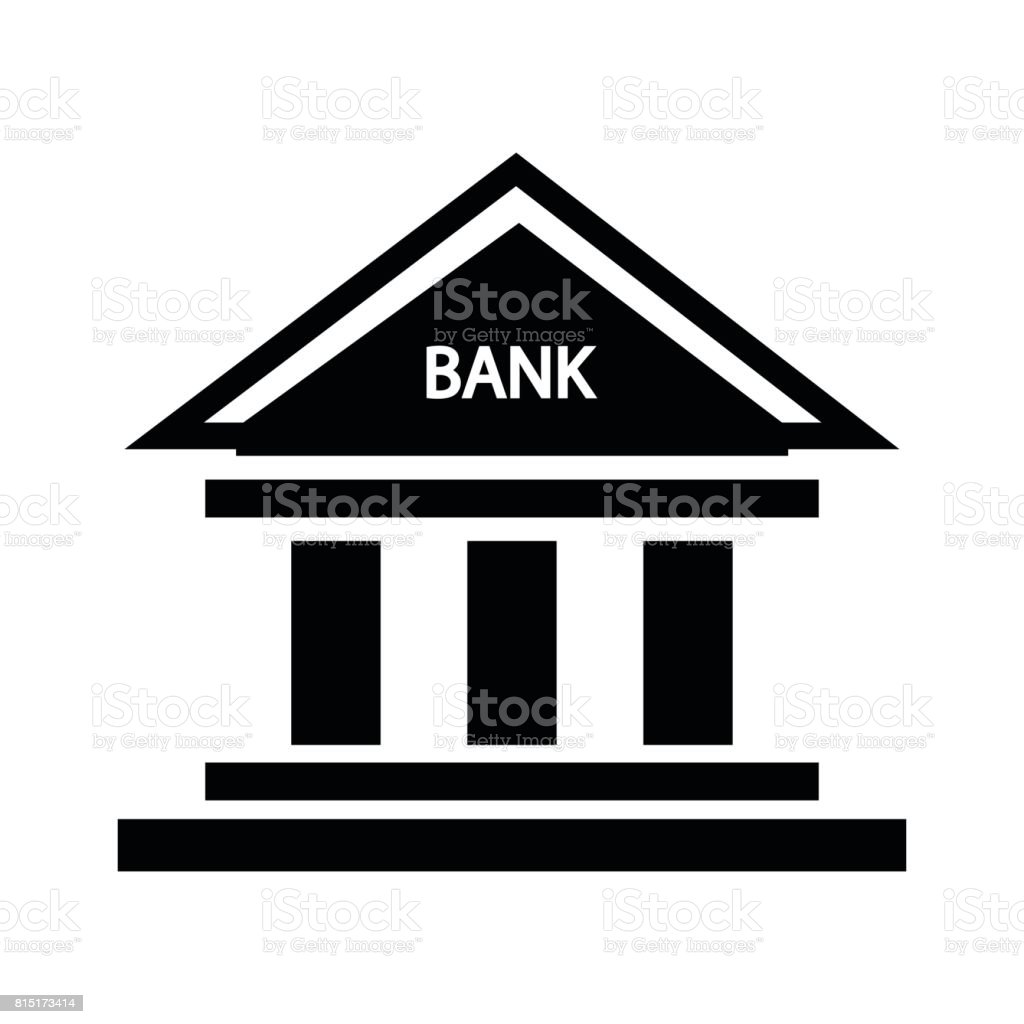 bank icon sign vector art illustration