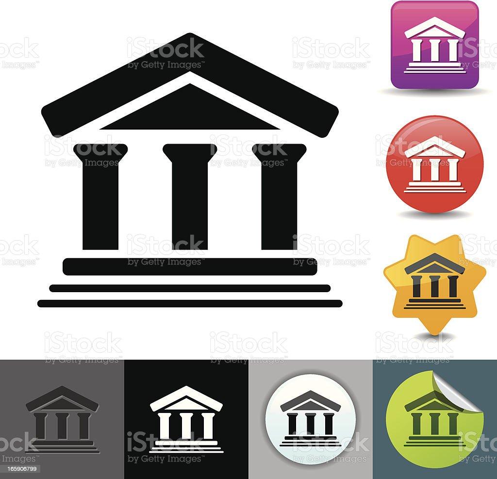 Bank icon | solicosi series vector art illustration