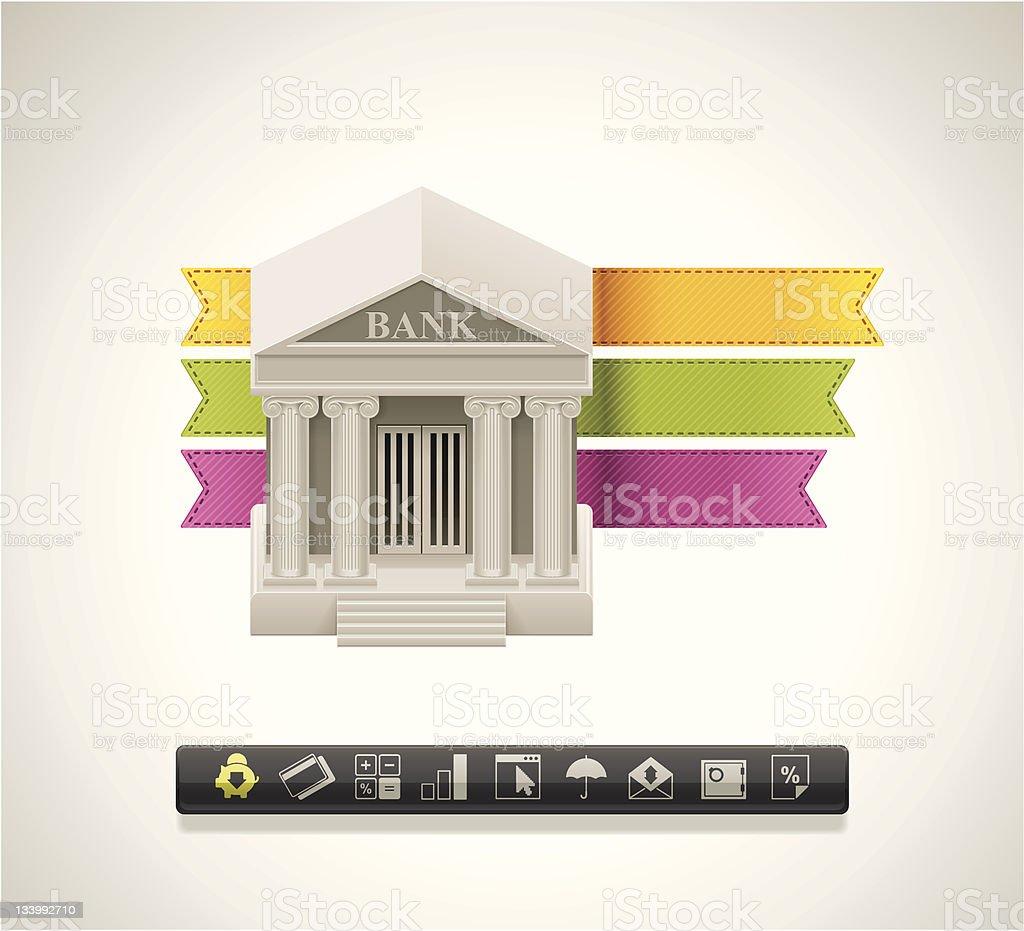 Bank icon royalty-free stock vector art