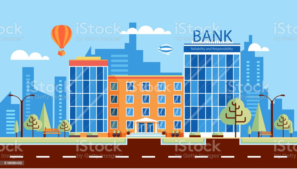 bank number one vector art illustration