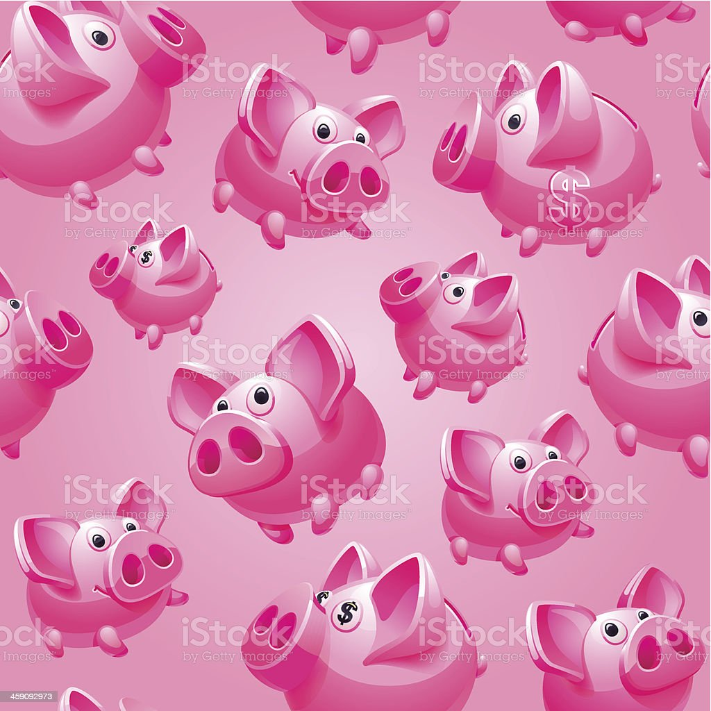 Bank on pink background royalty-free stock vector art
