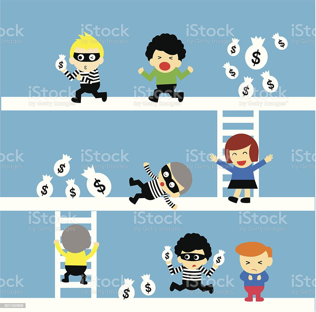 Bank robber royalty-free stock vector art