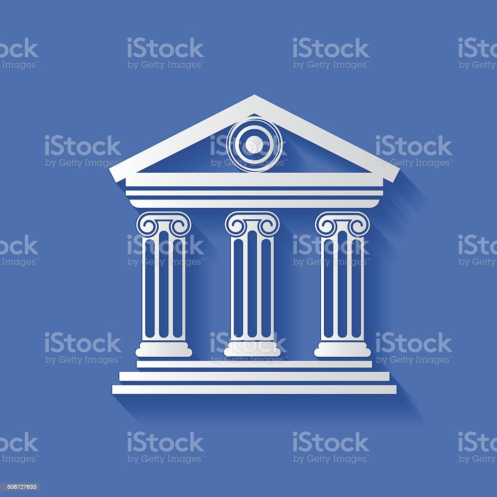 Bank symbol,clean vector vector art illustration