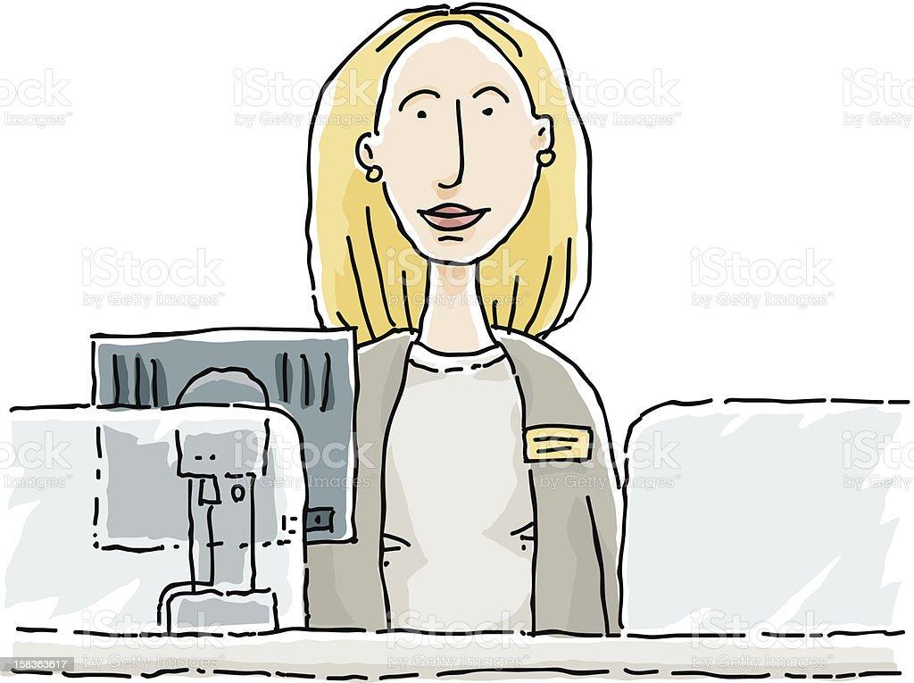 Bank Teller vector art illustration