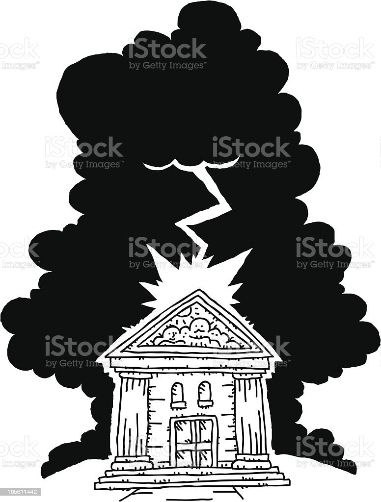Bank Trouble royalty-free stock vector art