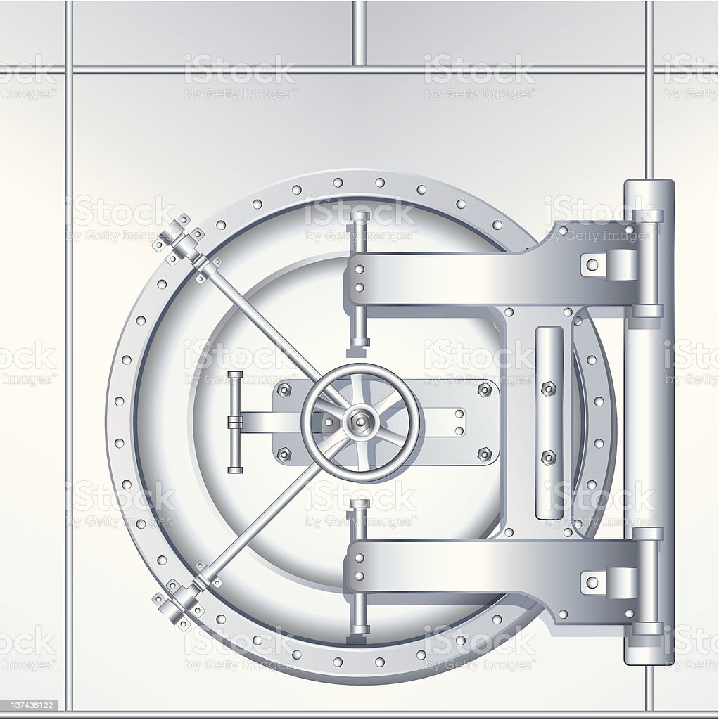 Bank Vault Door. Vector Image royalty-free stock vector art