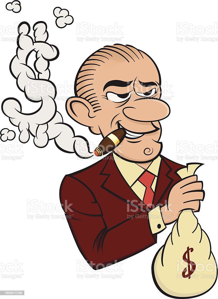 Banker - Cartoon vector art illustration