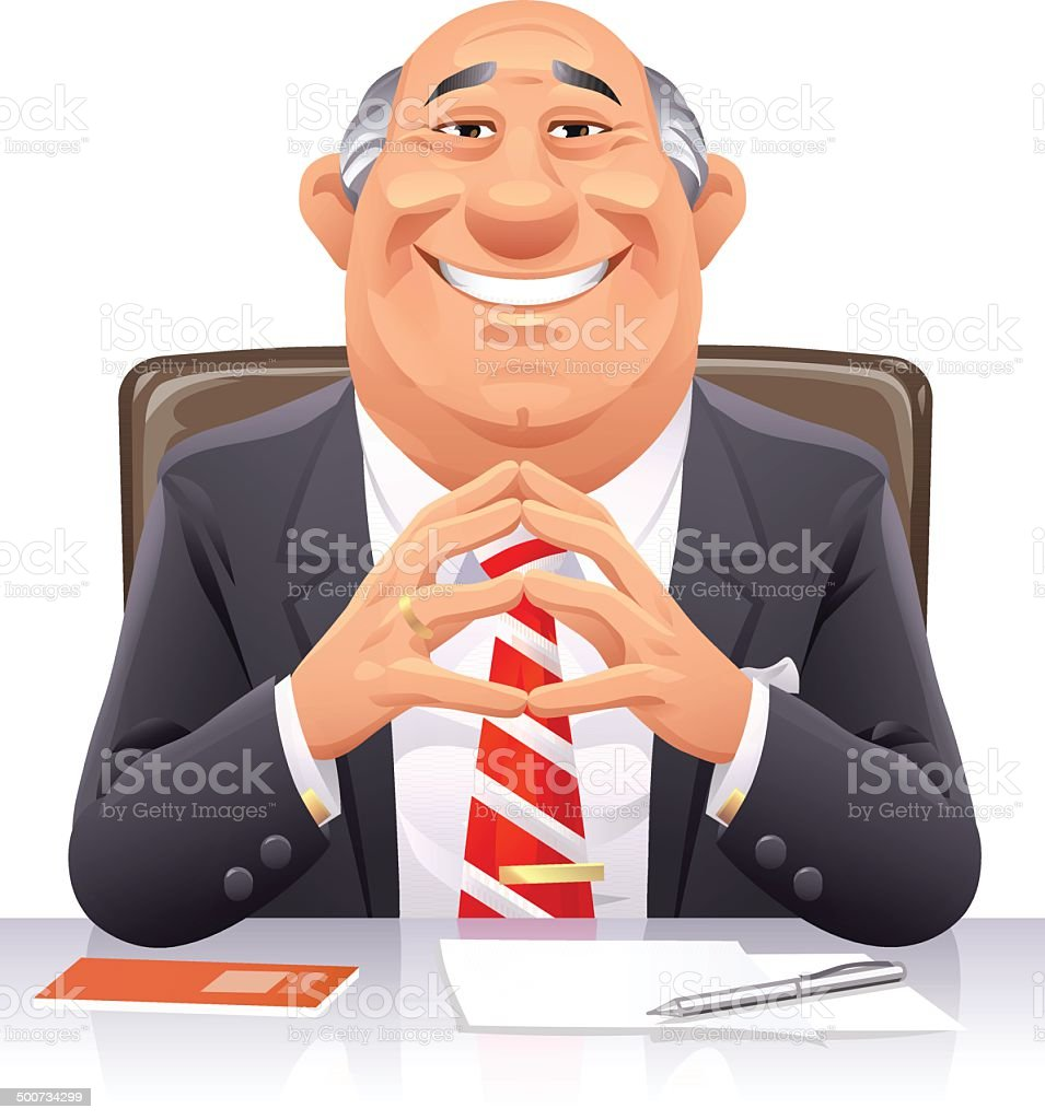 Banker vector art illustration