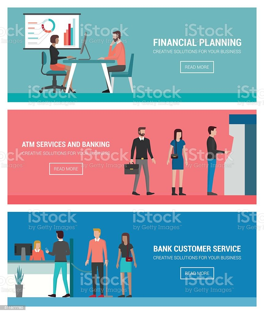 Banking and finance vector art illustration