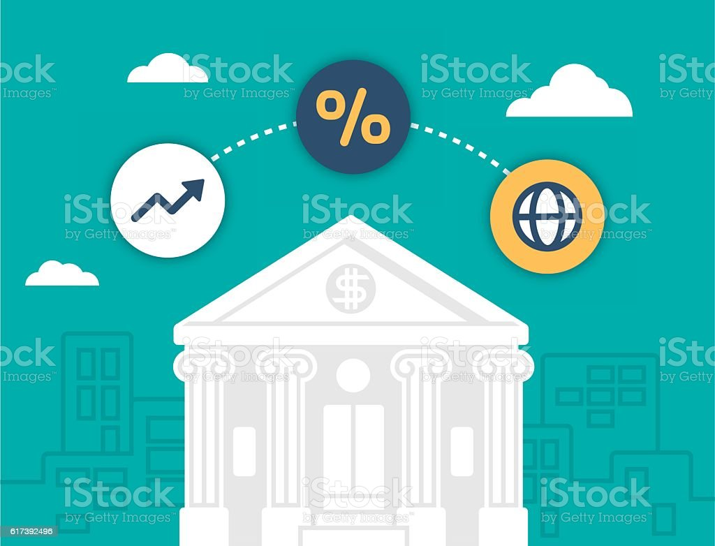 Banking and Financial Institution vector art illustration