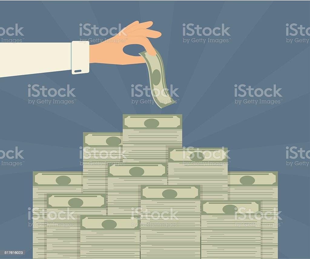 Banking deposits vector art illustration