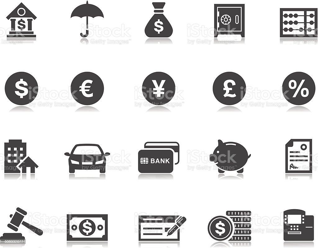 Banking & Finance icons | Pictoria series vector art illustration