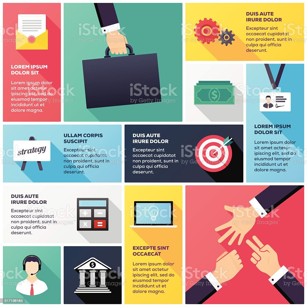 Banking & Finance Infographic vector art illustration