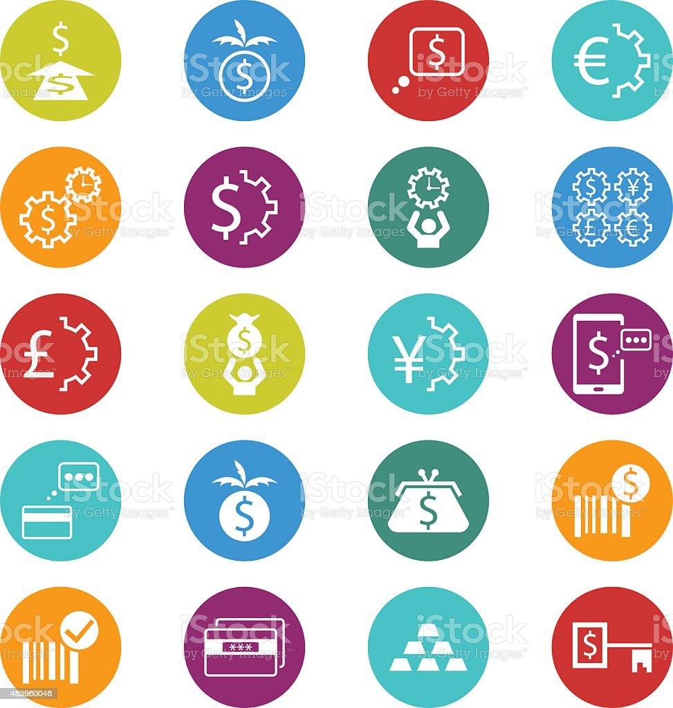 Banking icon set vector art illustration