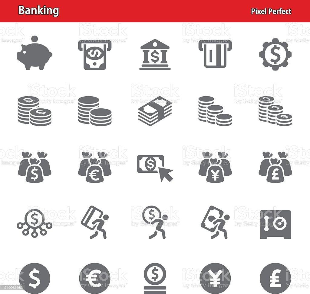Banking Icons - Set 2 vector art illustration