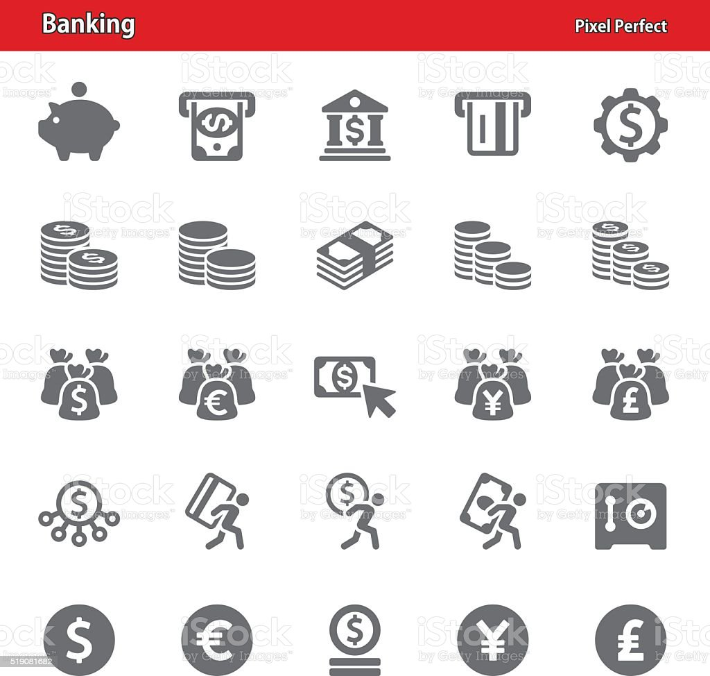Banking Icons - Set 2 vector art illustration