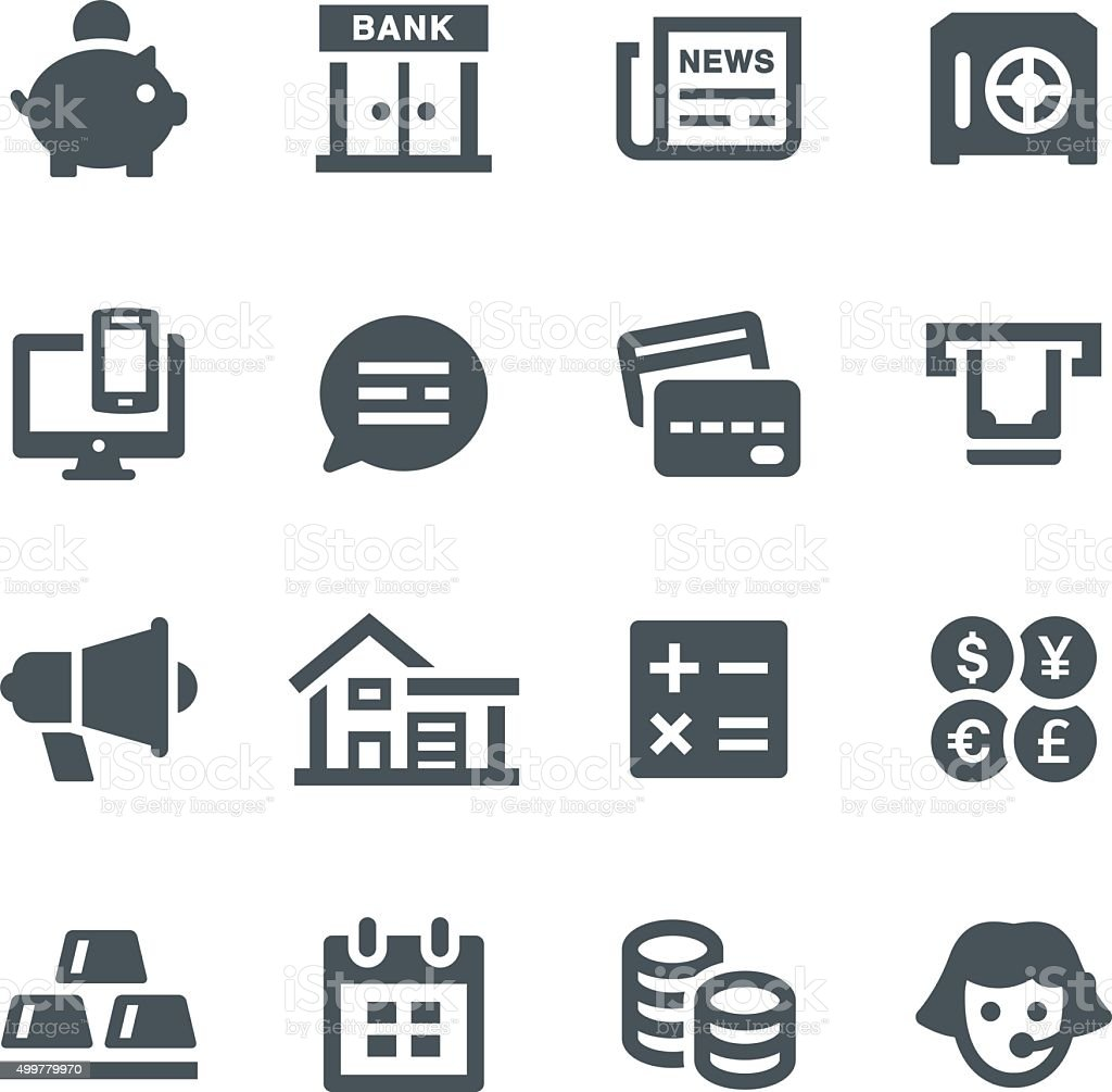 Banking Icons vector art illustration