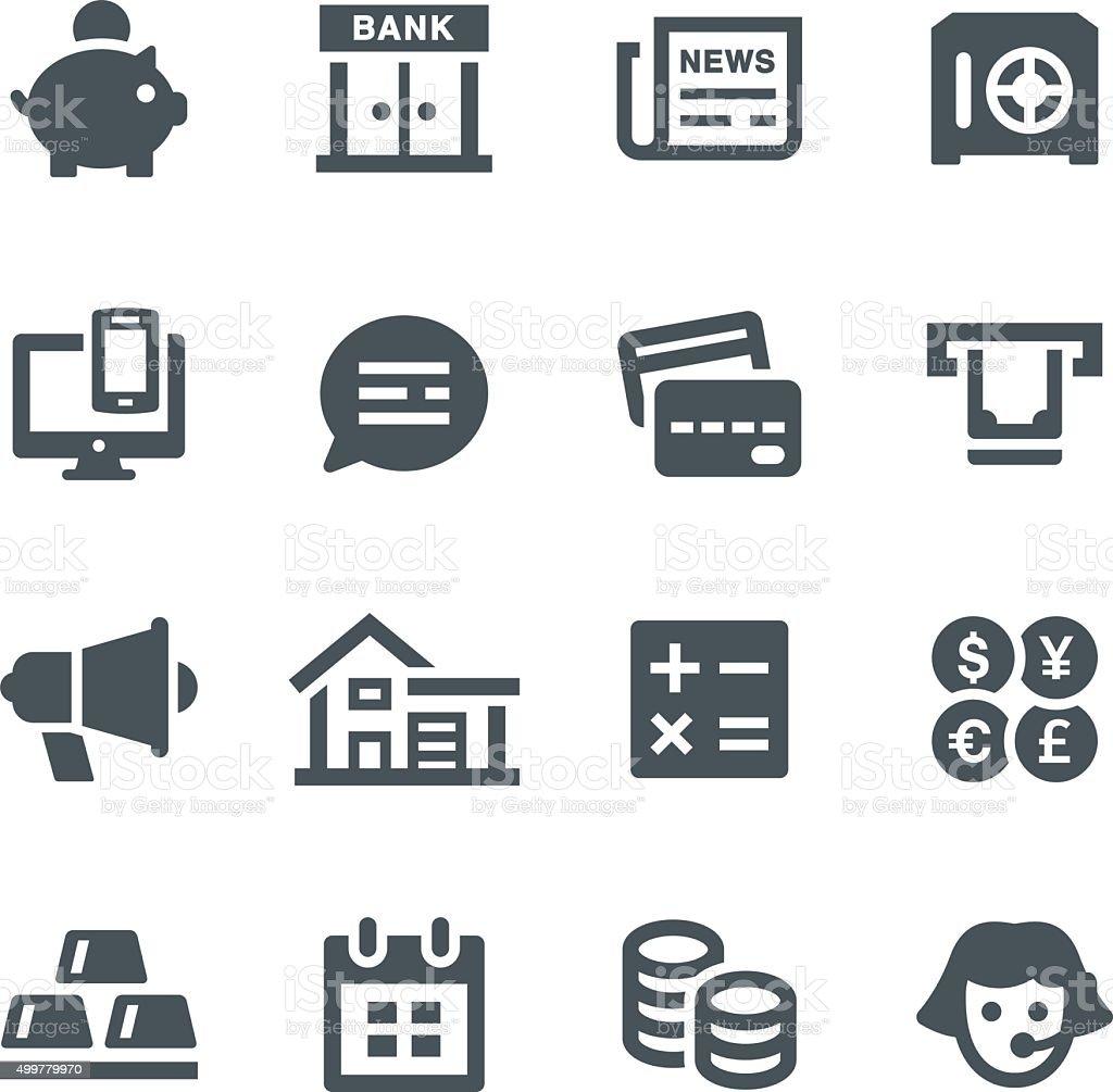 Banking Icons vector art illustration