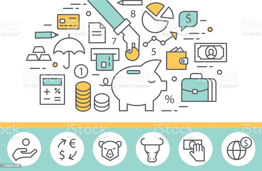 Banking service vector art illustration