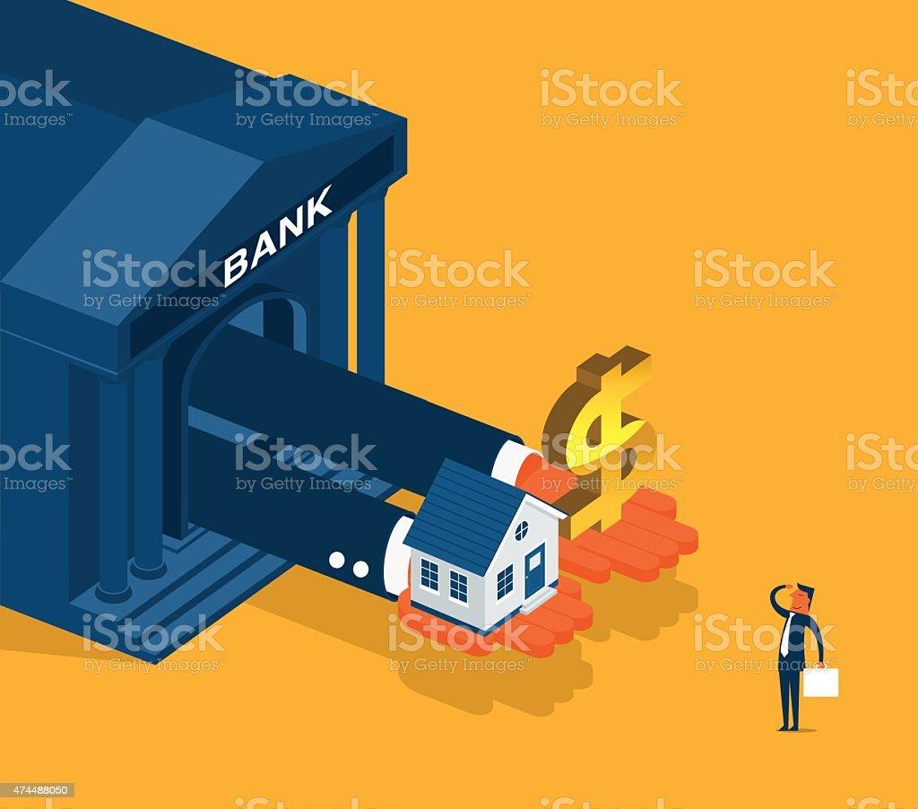 Banking vector art illustration