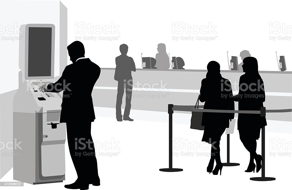 Banking Vector Silhouette royalty-free stock vector art