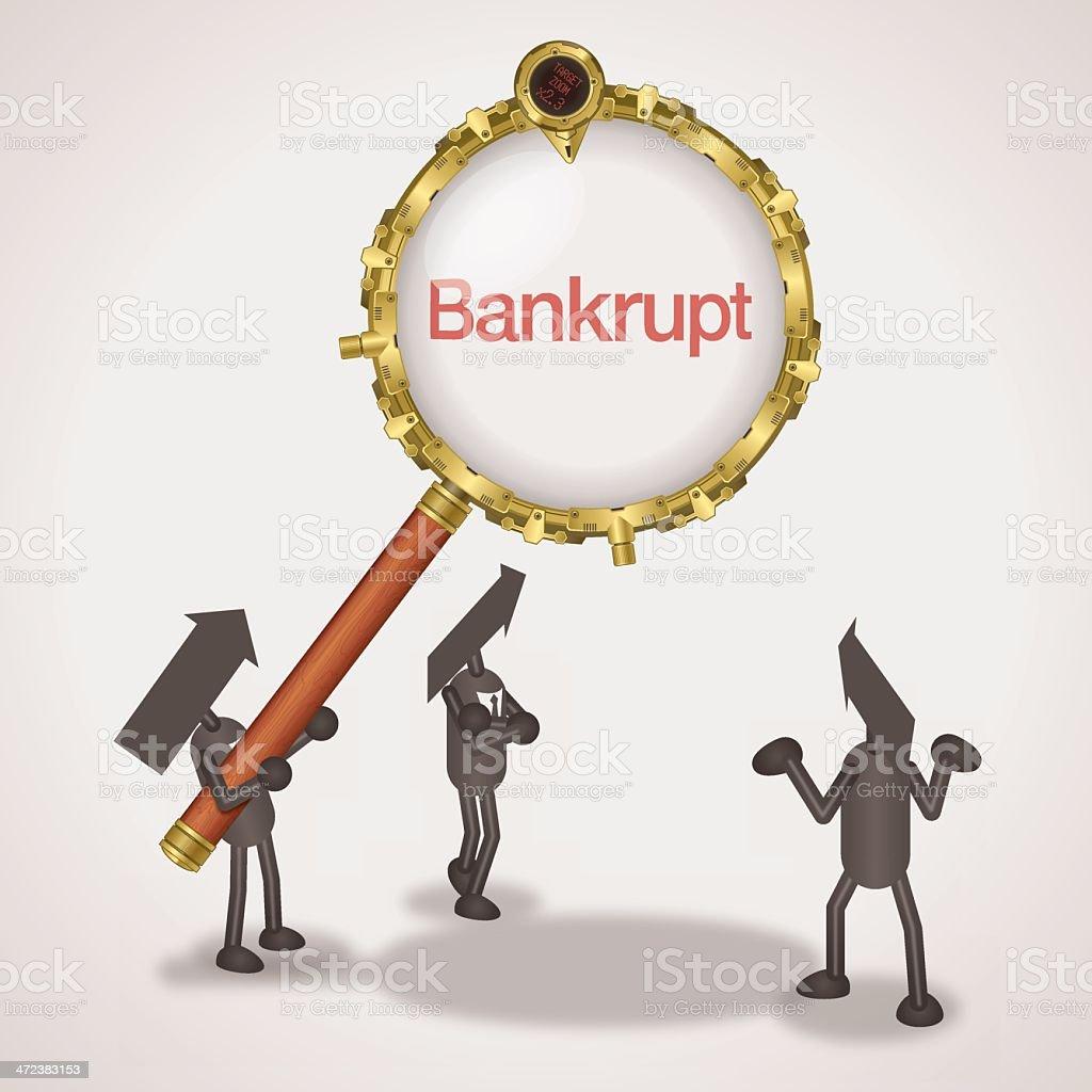 Bankrupt royalty-free stock vector art