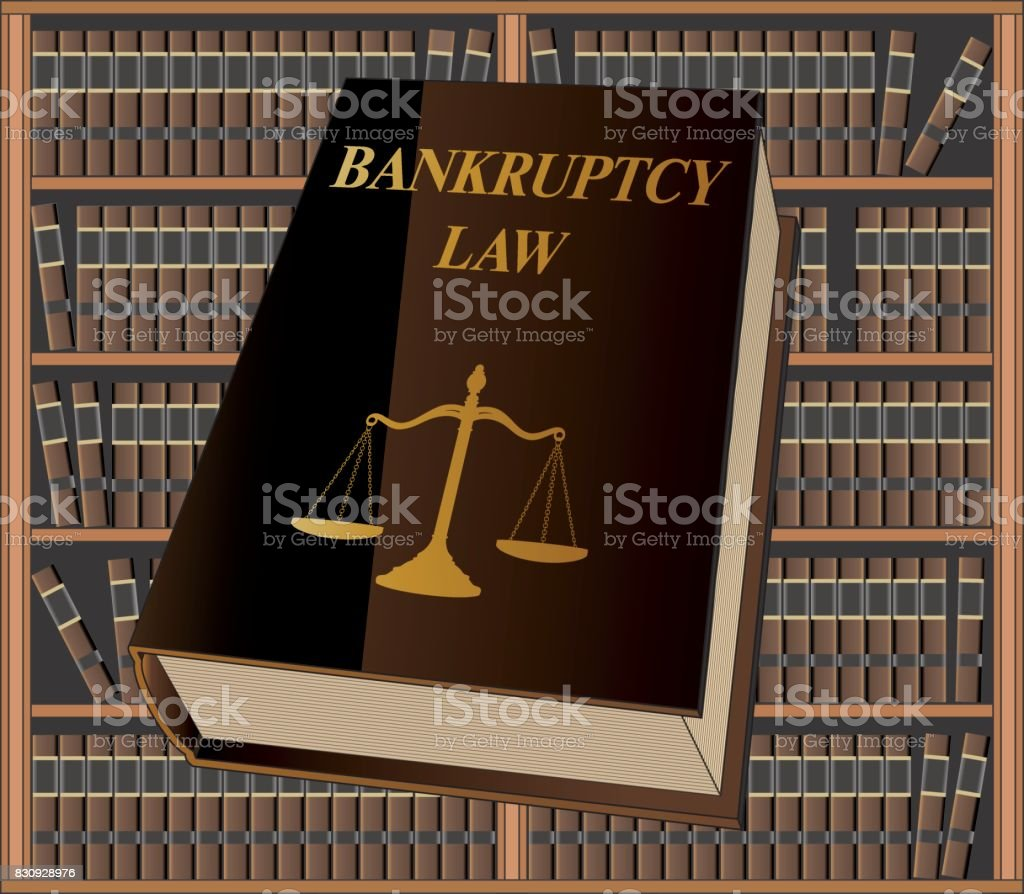 Bankruptcy Law vector art illustration