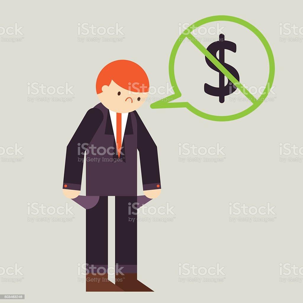 Bankruptcy vector art illustration