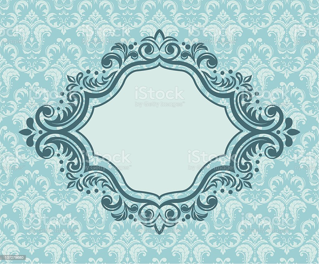 banner and floral background royalty-free stock vector art