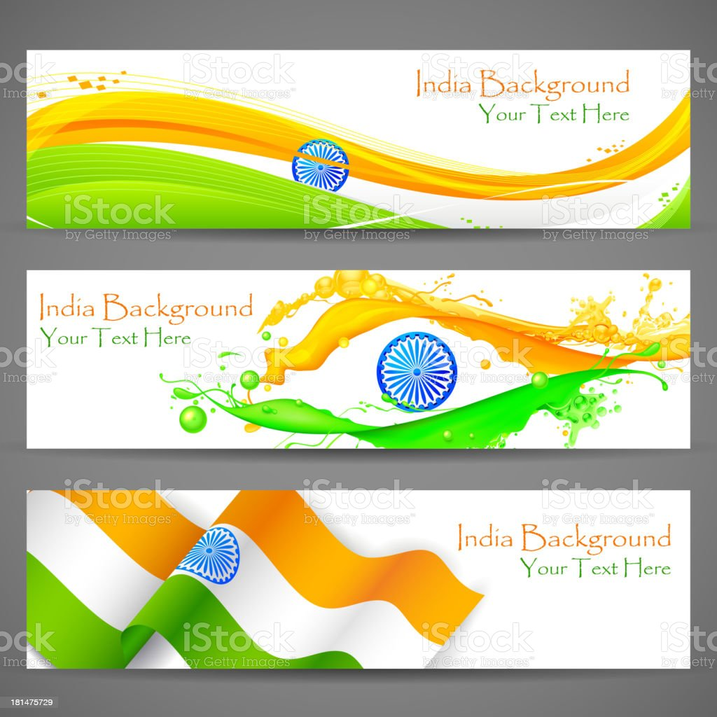 Banner and Header for India Celebration royalty-free stock vector art