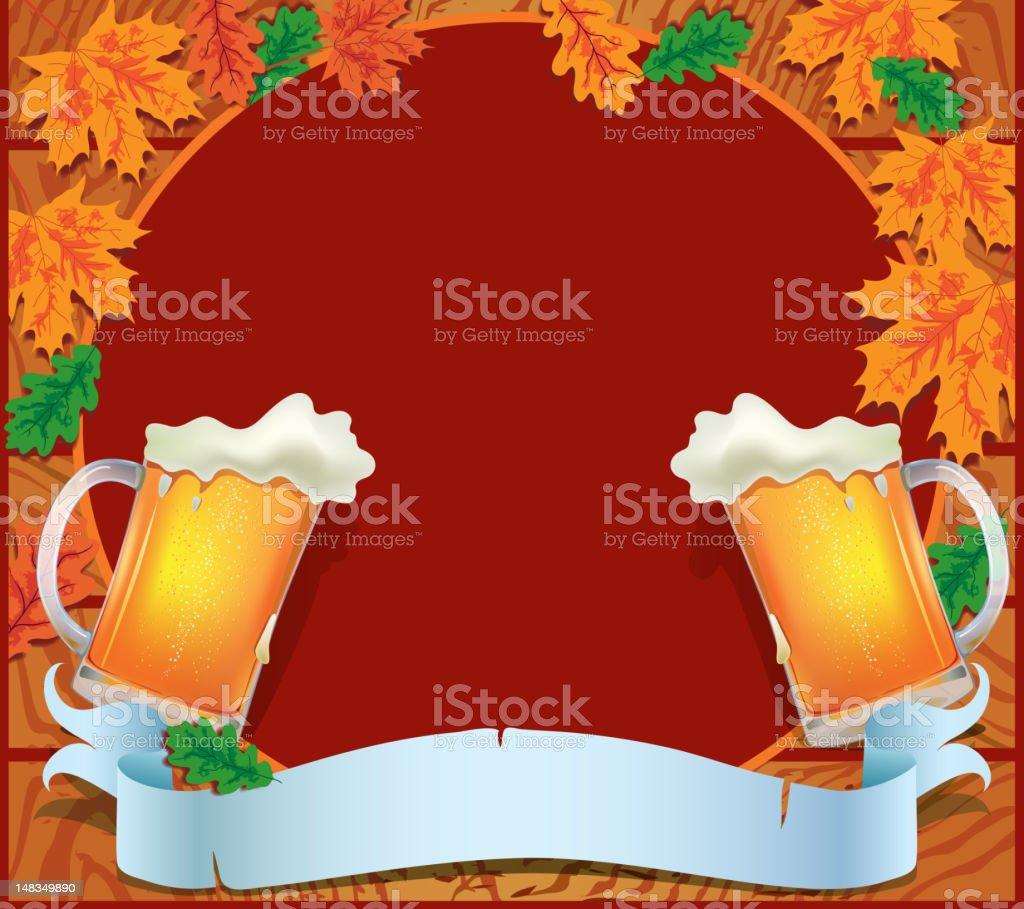 Banner celebration Oktoberfest royalty-free stock vector art