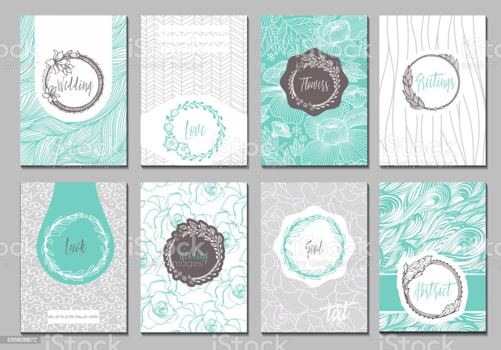 Banner creative cards vector art illustration