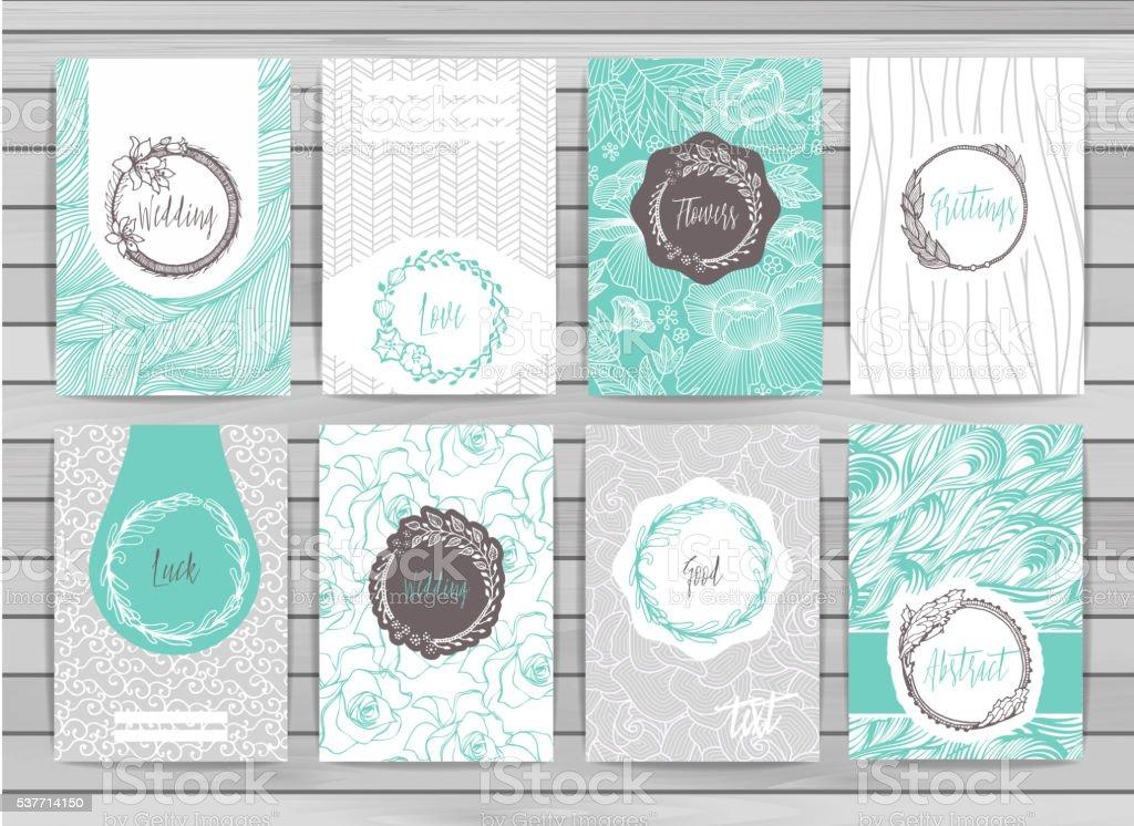 Banner creative cards vector art illustration