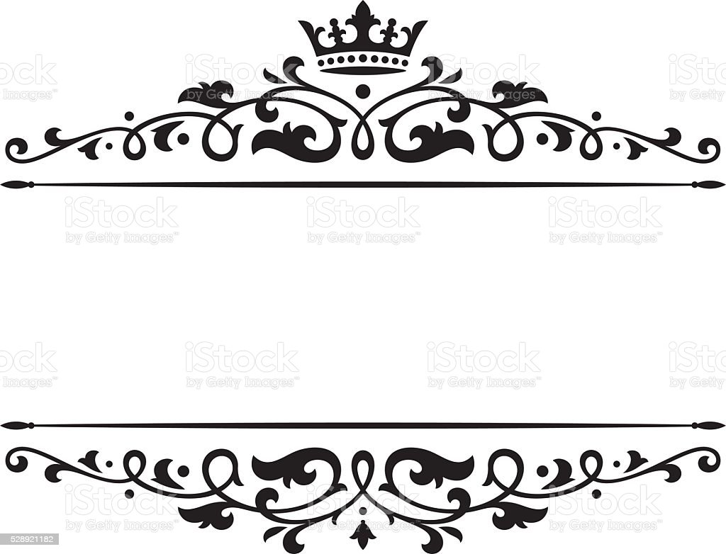 Banner crown vector art illustration