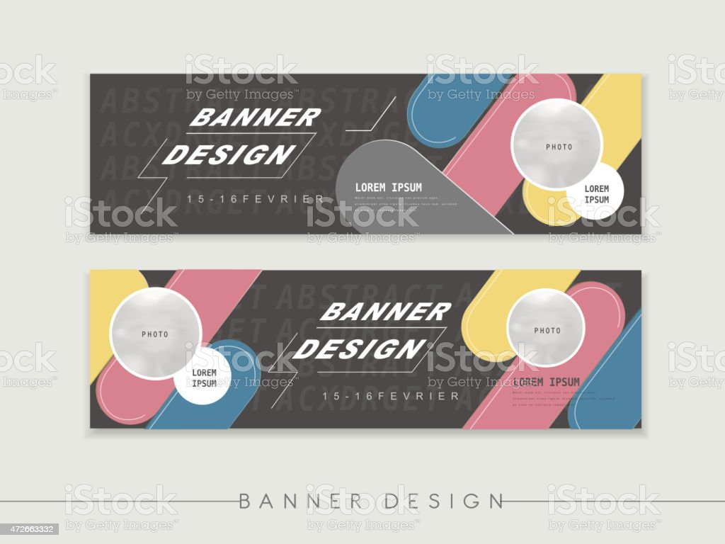 banner design template vector art illustration